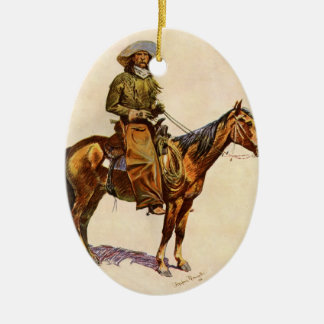Vintager Western, ein Arizona-Cowboy durch Keramik Ornament