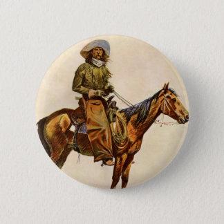 Vintager Western, ein Arizona-Cowboy durch Runder Button 5,7 Cm