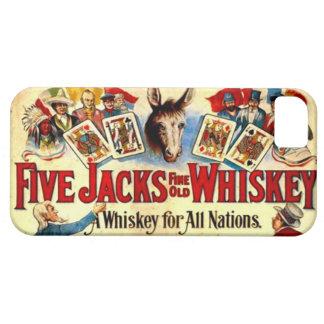 Vintager Whisky-Aufkleber kardiert Hülle Fürs iPhone 5