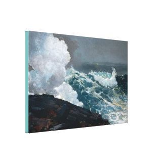 Vintager Winslow Homer Northeaster Leinwanddruck