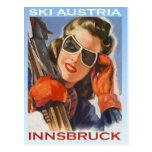 Vintager Wintersport, Ski Österreich, Innsbruck Postkarten