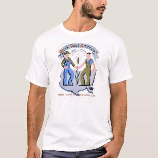 Vintager WPA T - Shirt: Arbeit zahlt Amerika T-Shirt