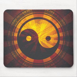 Vintager Yin Yang Symbol-Druck Mousepad