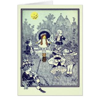 Vintager Zauberer von Oz, Dorothy trifft das Karte