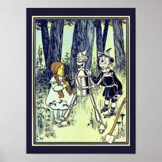 Vintager Zauberer von Oz, Dorothy trifft das Poster
