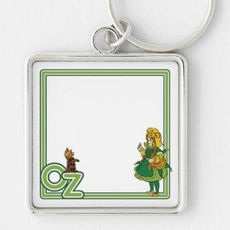 Vintager Zauberer von Oz; Dorothy und Toto Schlüsselanhänger