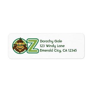Vintager Zauberer von Oz, Löwe im Buchstaben O