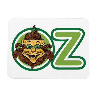 Vintager Zauberer von Oz, Löwe im Buchstaben O Magnet