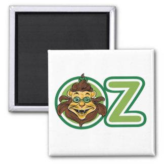 Vintager Zauberer von Oz, Löwe im Buchstaben O Quadratischer Magnet
