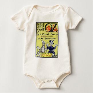 Vintager Zauberer- von OzBucheinband Baby Strampler