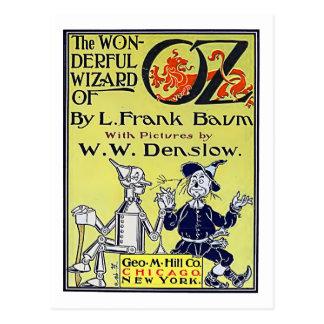Vintager Zauberer- von OzBucheinband Postkarte