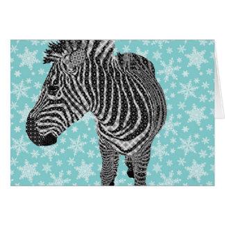 Vintager Zebra-Gruß Karte