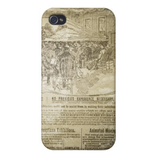 Vintager Zeitungs-Druck-Speck-Kasten iPhone4 iPhone 4/4S Hülle