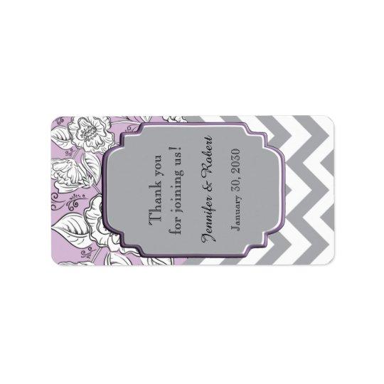 Vintager Zickzack Hochzeits-Lippenbalsam-mit Adressetikett