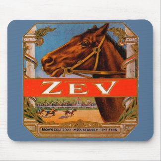 Vintager Zigarren-Aufkleber, Zev Mousepads
