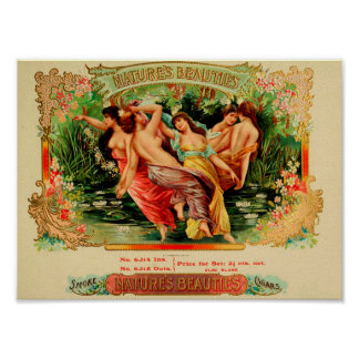Vintager Zigarrenschachtel-Aufkleber Poster