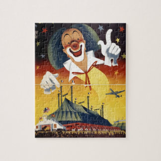 Vintager Zirkus-Clown Puzzle