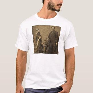 Vintager Zirkus-Freak-bärtige Dame T-Shirt