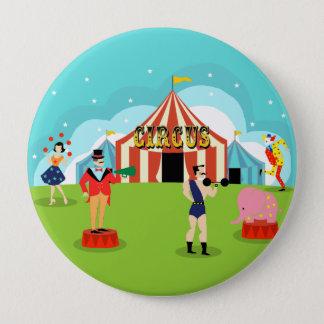 Vintager Zirkus-runder Knopf Runder Button 10,2 Cm