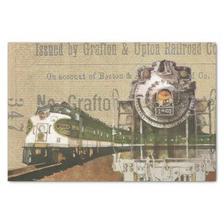 Vintager Zug-Druck Seidenpapier