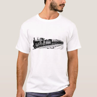 Vintager Zug - Schwarzes T-Shirt