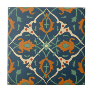 Vintages 1884 Ornamental-Keramik-Kunst-Blau Keramikfliese