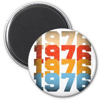 VINTAGES 1976 RUNDER MAGNET 5,7 CM