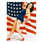 Vintages 4. von JuliPinup Postkarten