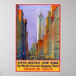 Vintages 5. Alleen-New- York Cityreise-Plakat Poster