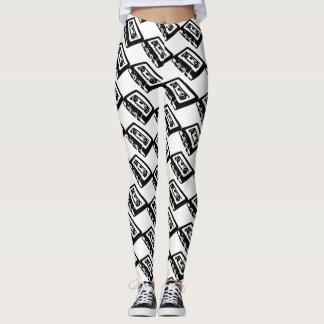 Vintages 80er Kassetten-Band Leggings