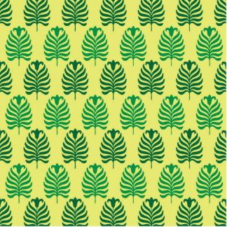 Vintages abstraktes grünes gelbes palmette freistehende fotoskulptur