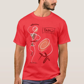 Vintages abstraktes Taiko T-Shirt