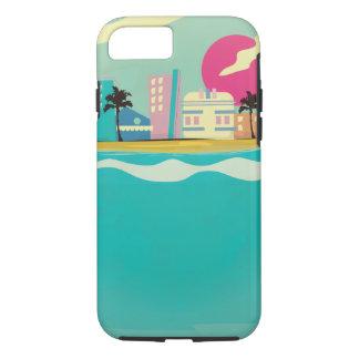 Vintages Achtzigerjahre Miami-Plakat iPhone 8/7 Hülle