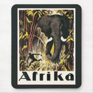 Vintages Afrika-Reise-Plakat, afrikanischer Mauspads