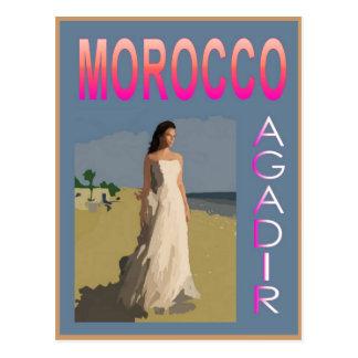 Vintages Agadir Postkarte