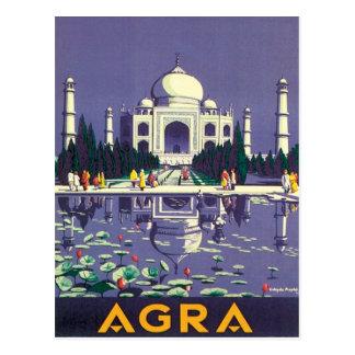 Vintages Agra Taj Mahal Indien Postkarte