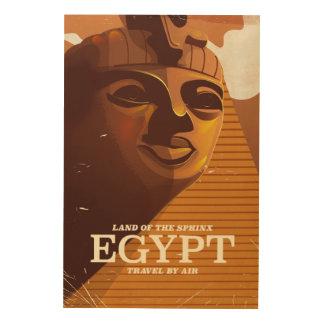 Vintages ägyptisches Ferienplakat Holzdruck