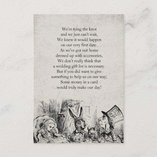 Vintages Alice Im Wunderland Geschenk Gedicht