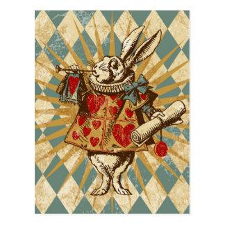 Vintages Alice-Weiß-Kaninchen Postkarte