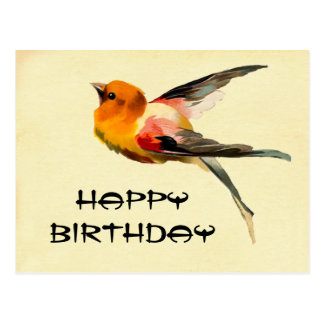 Vintages alles Gute zum Geburtstag Postkarte