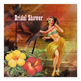 Vintages aloha hula quadratische 13,3 cm einladungskarte
