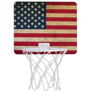 Vintages amerikanische Flaggen-Minibasketball-Band Mini Basketball Ring