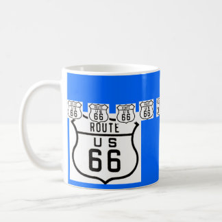 Vintages amerikanisches Verkehrsschild des Weg-66 Kaffeetasse
