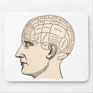 Vintages Anatomie-Gehirn-Karten-Bild Mauspad