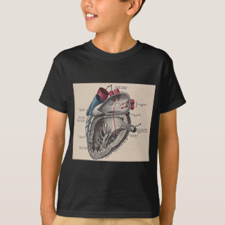 Vintages anatomisches Herz T-Shirt