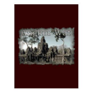 Vintages Angkor Wat Postkarte
