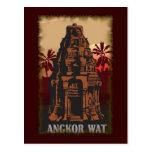 Vintages Angkor Wat Postkarten