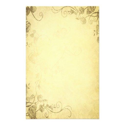 Vintages antikes blick hochzeits briefpapier individuelles druckpapier