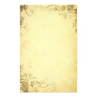 Vintages antikes Blick-Hochzeits-Briefpapier Briefpapier