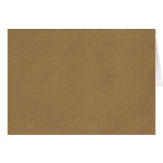 Vintages antikes Papier Wildleder-Pergament-TANs Karte